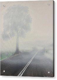 Foggy Road Acrylic Print