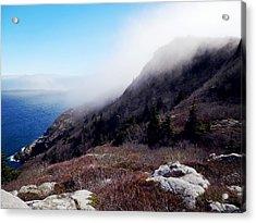 Foggy Seashore Acrylic Print