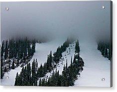 Foggy Ski Resort Acrylic Print by Eti Reid