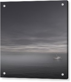Foggy Stillness Acrylic Print by Lourry Legarde