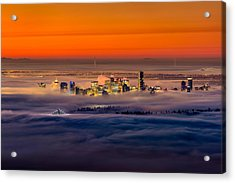 Foggy Sunrise Crop Acrylic Print by Alexis Birkill