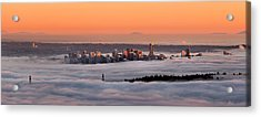 Foggy Sunset Acrylic Print