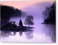 Foggy Twilight Acrylic Print by Thomas Pettengill