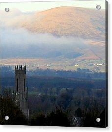 Foggy Wicklow  Mountains.  Acrylic Print by Joseph Doyle