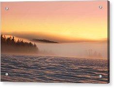 Foggy Winter Acrylic Print