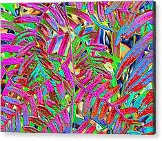 Foiled Ferns Acrylic Print