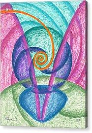 Fold Upon Fold Mandala Acrylic Print