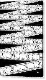 Folding Carpenter's Ruler Acrylic Print by Jim Hughes