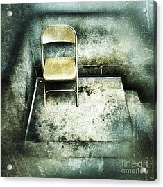 Folding Chair On Stoop Acrylic Print by Amy Cicconi