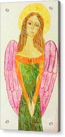 Folk Angel Protection Acrylic Print by Sacred  Muse