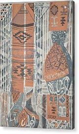 Folk Arabic Symbols Acrylic Print