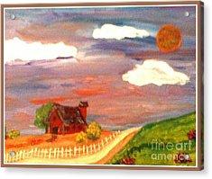 Acrylic Print featuring the painting Folk Art by Bobbee Rickard