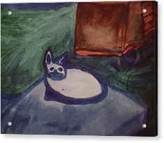 Folk Art Cat Acrylic Print
