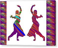 Acrylic Print featuring the photograph Folk Dance Sparkle Graphic Decorations by Navin Joshi