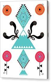 Folk Deer Acrylic Print