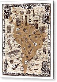 Folk Instruments Of Latin America Acrylic Print by Ricardo Levins Morales