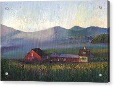 Folk School Barn At Dawn Acrylic Print by William Killen