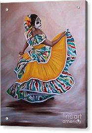 Folklorico 1 Acrylic Print by Barbara  Rivera