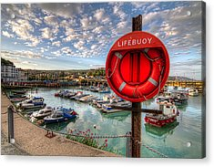 Folkstone Harbour Acrylic Print by Tim Stanley