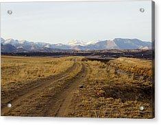 Follow That Road Acrylic Print by Dana Moyer