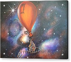 Follow That Star Acrylic Print by Krystyna Spink
