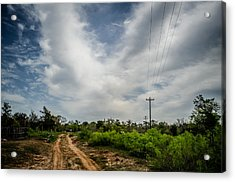 Follow The Dirt Road Home Acrylic Print by Kelly Kitchens