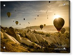 Follow The Wind - Cappadocia Turkey Acrylic Print by OUAP Photography