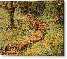 Follow The Yellow Brick Road Acrylic Print by Lyndsey Hatchwell