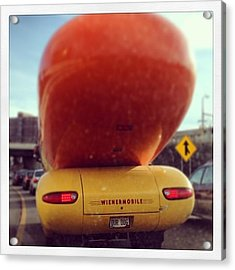 Following The Weinermobile Acrylic Print