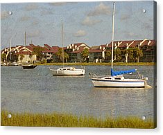 Folly Beach Boats Acrylic Print