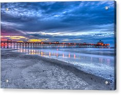 Folly Beach Fishing Pier Acrylic Print