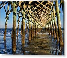 Folly Beach Pier Acrylic Print