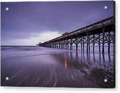 Folly Beach Pier Acrylic Print