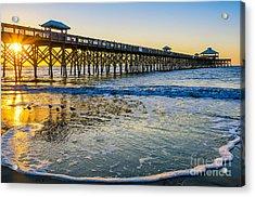 Folly Beach Sunrise Acrylic Print