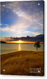 Folsom Lake Sunset Acrylic Print