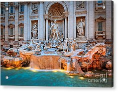 Fontana Di Trevi Acrylic Print by Inge Johnsson