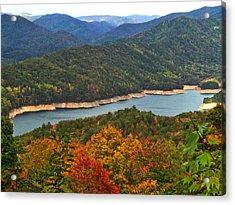 Fontana Lake In Fall Acrylic Print