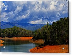 Fontana Lake Storm Acrylic Print by Chris Flees