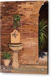 Fontana Acrylic Print by Mary Giacomini
