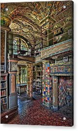 Fonthill Castle Library Room Acrylic Print by Susan Candelario