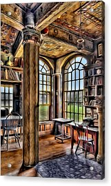 Fonthill Castle Office Acrylic Print by Susan Candelario