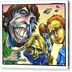 Foo Fighters Acrylic Print by John Ashton Golden