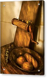 Food -  Bread  Acrylic Print by Mike Savad