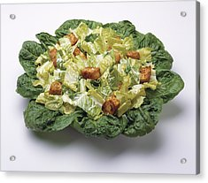 Food - Caesar Salad Prepared Acrylic Print by Ed Young