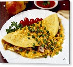 Food - Cheese And Mushroom Omelette Acrylic Print