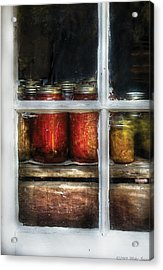 Food - Country Preserves  Acrylic Print by Mike Savad