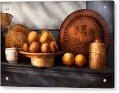 Food - Lemons - Winter Spice  Acrylic Print by Mike Savad