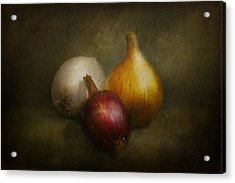 Food - Onions - Onions  Acrylic Print by Mike Savad