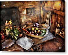 Food - The Start Of A Healthy Meal  Acrylic Print by Mike Savad