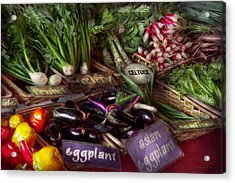 Food - Vegetables - Very Fresh Produce  Acrylic Print by Mike Savad